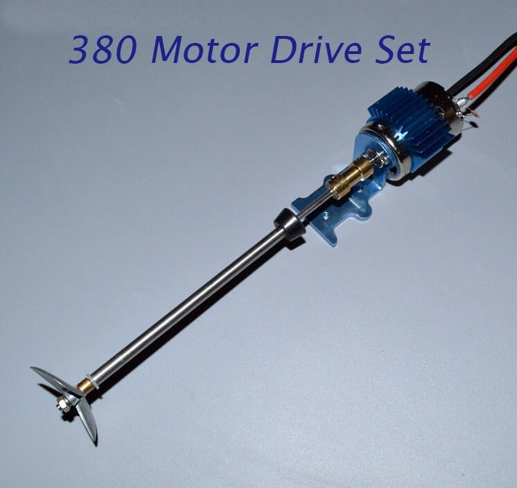 1 Set 380 RC Boat Motor+Shaft+Positve Metal Screw Spare Part For DIY RC Electric Boat Model Speedboat