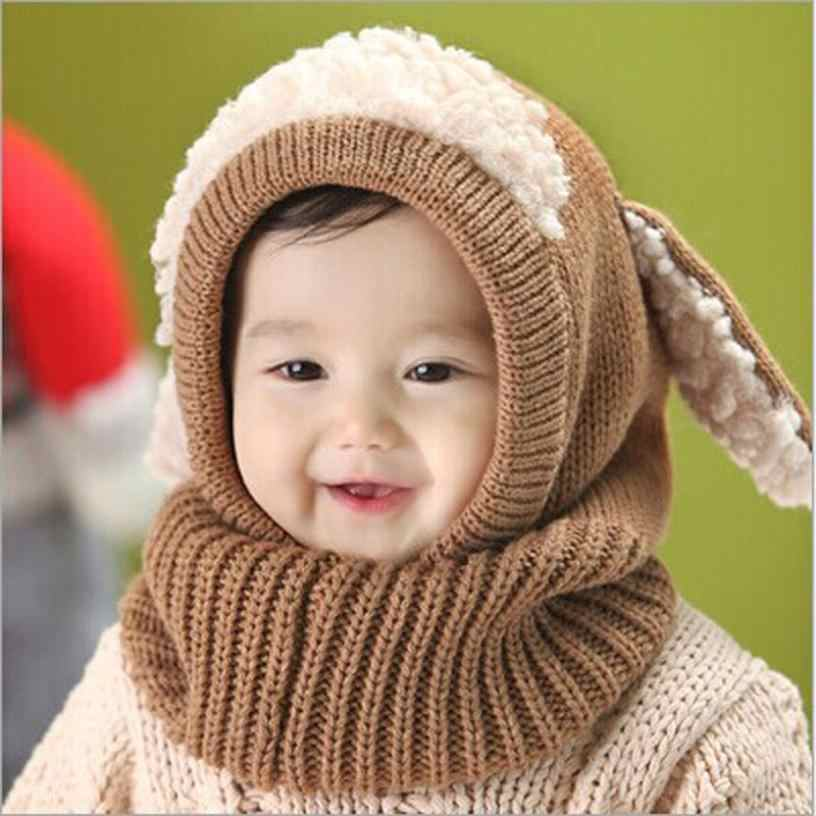 Winter Baby Kids Girls Boys Hat Warm Woolen Coif Hood Scarf Caps Hats Outdoor US