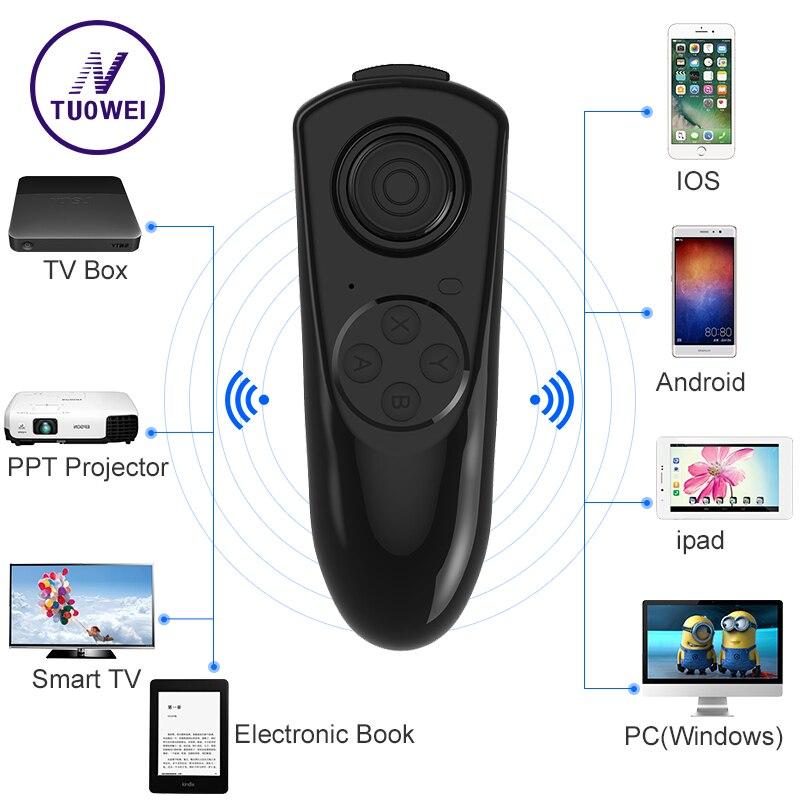 Bluetooth Gamepad font b VR b font Controller iOS Android phone Joystick Selfie Shutter Remote Control