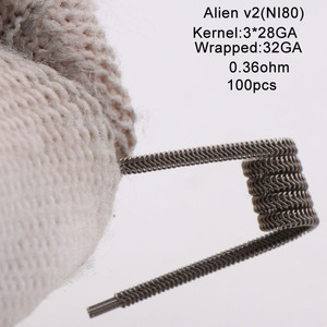 Image 4 - XFKM Ni80/A1/SS316 الغريبة v2 لفائف ل RDA تانك بخاخ RTA سيجارة إلكترونية أكسسوار القلم 100 قطعة/صندوق الغريبة V2 لفائف