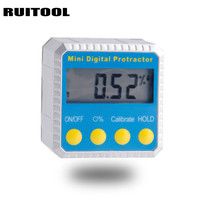 Mini Digital Protractor Inclinometer Goniometer Level Angle Ruler 4*90 Degree Magnetic Base Measuring Tools