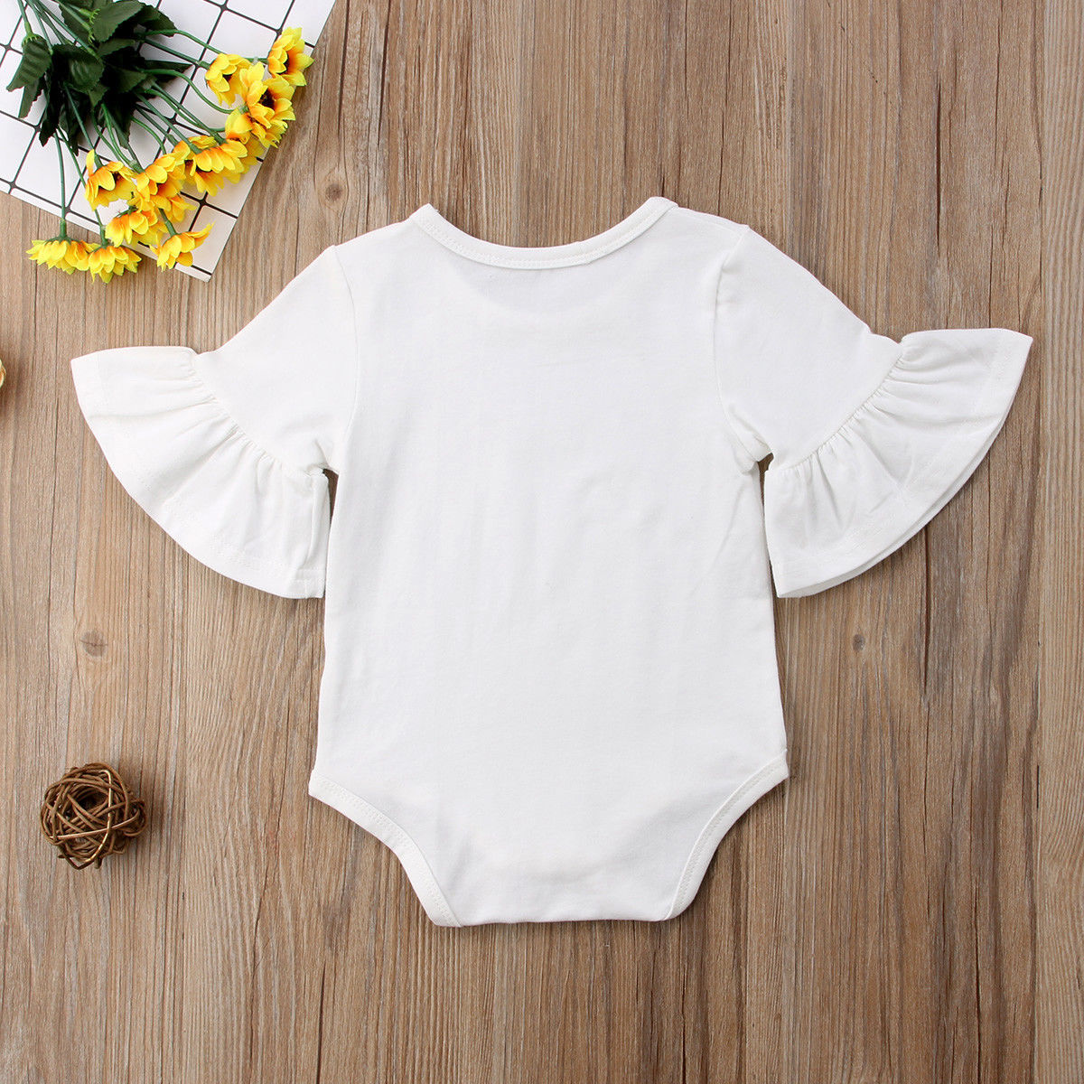 HTB1skdkMYPpK1RjSZFFq6y5PpXap 3 Color Newborn Infant Baby Girl Clothes Flared Sleeve Romper Brife Jumpsuit Sunsuit Outfits