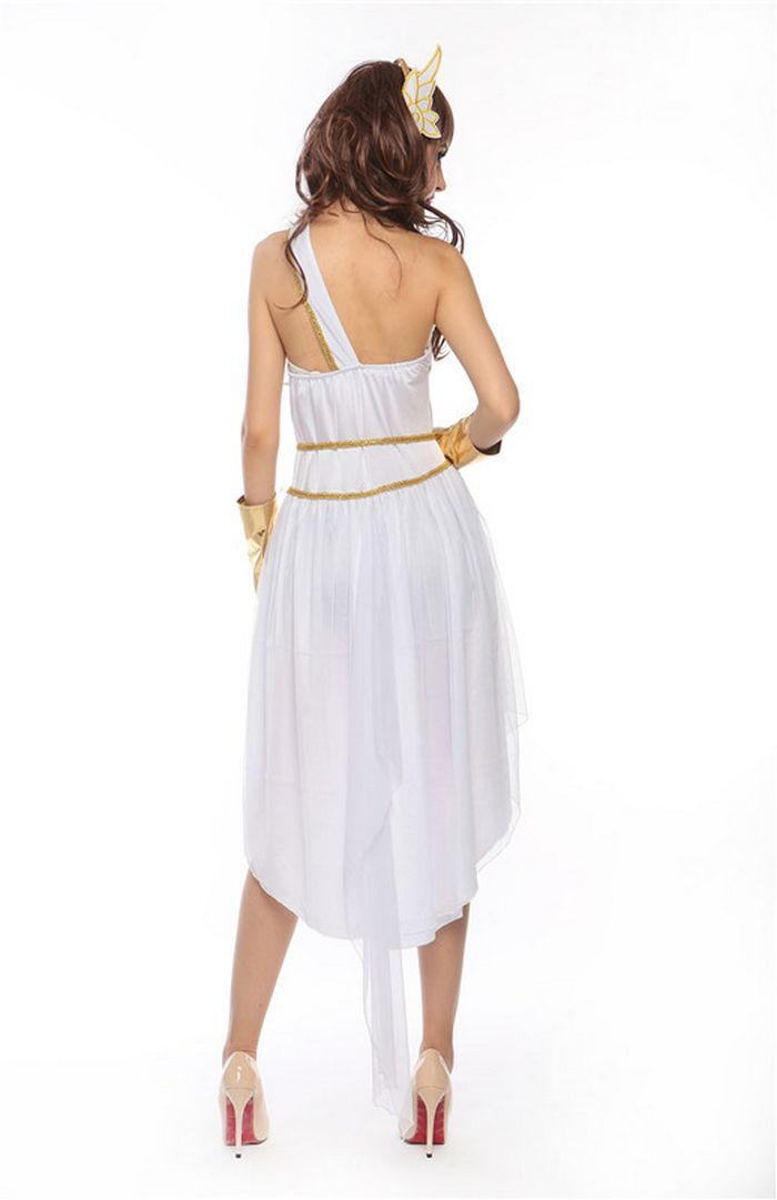 The Greek goddess The cleopatra ancient egypt Queen Long white Dress Cytherea female Halloween Cosplay women Maxi dress fantasia