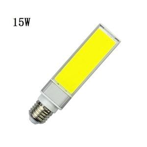 Image 3 - Led lampen 10 W 15 W 20 W E27 G24 Maïs Lamp SMD COB wit Warm Wit Spotlight 180 Graden AC110V 220 V Horizontale Plug Light Lampada
