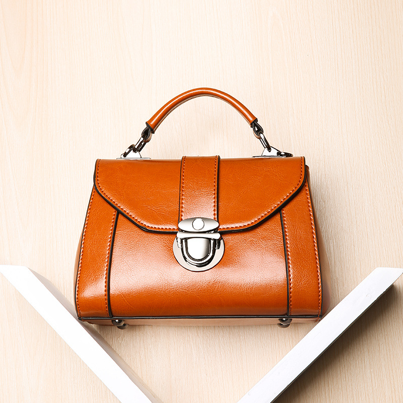 Hot Sale Calf Leather Buckle Lock Handbag New Women's Shoulder Bag Genuine Leather Female Small Square Ladies Cross body Bag hot sale popular women scrub leather design cross body bag girls shoulder bag female small flap handbag top handle bags