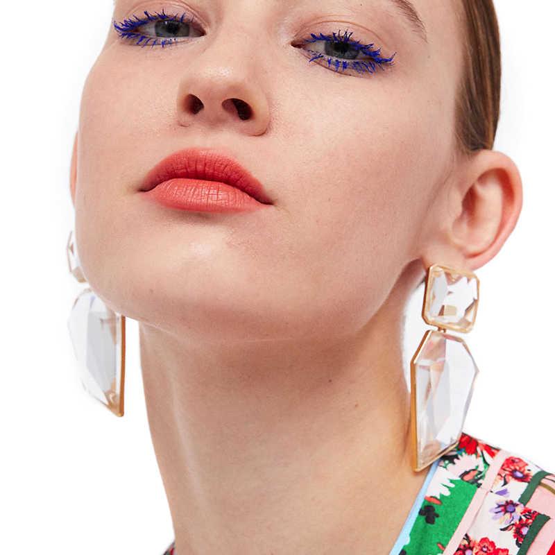 JUJIA New Handmade Crystal Za Jewelry Women's Earrings 2018 Wedding Party Dangle Drop Earrings Metal Accessory Pendientes