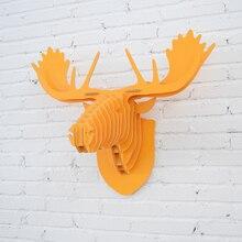 Animales de madera de Pared Cabeza Colgando Rangifer Madera Cabeza de Ciervo Para Pared DecorationCreative WDM002M Madera Muebles Para El Hogar