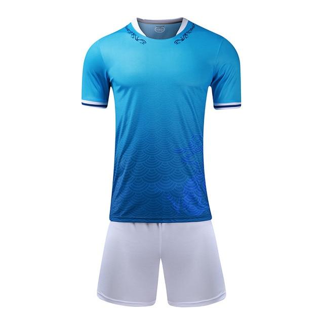 New Kids Soccer Jerseys Set Survetement Football Kits Boys Sports Futbol  Training Shirts Shorts maillot de foot Breathable Print 49099a6d6