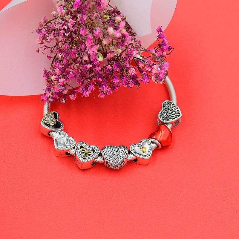 Caliente de plata europea CZ Charm Beads Fit Pandora estilo pulsera - Bisutería - foto 2