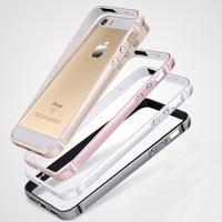 5 5S SE Creative Bumper Case For IPhone 5 5S SE Soft TPU Hard Aluminum Metal