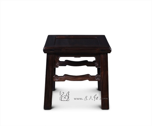 Square Stools with Cloud Scroll patterns Ottomans Foot-step Shoes trying Bench Chinese Classical Living Room Rosewood Furniture