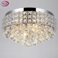 Envío Gratis Modern Luxury Crystal Luz de Techo Abajur Luminaria Teto Lustre Dia40 * h25cm lujo Iluminación Interior