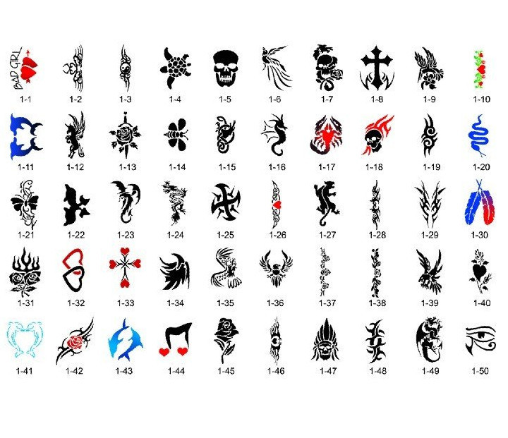 Detail Feedback Questions About Body Art Temporary Airbrush Tattoo