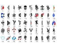 Body art Temporary Airbrush Tattoo Stencil Template New Booklet 1 High Quality