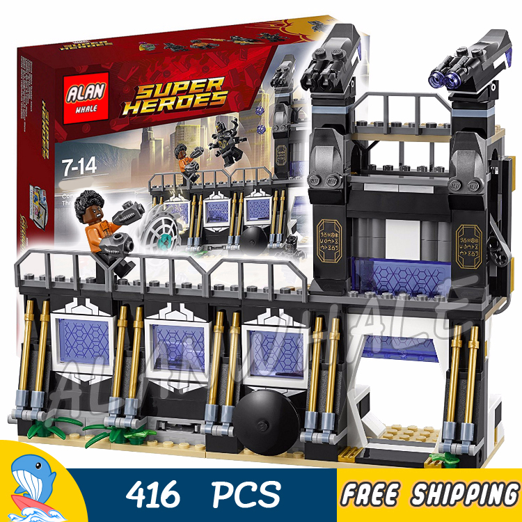 446pcs Super Heroes Black Panther Corvus Glaive Thresher Attack 10838 Model Building Blocks Toys Bricks Compatible With Lego