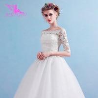 AIJINGYU 2018 elegant free shipping new hot selling cheap ball gown lace up back formal bride dresses wedding dress FU169
