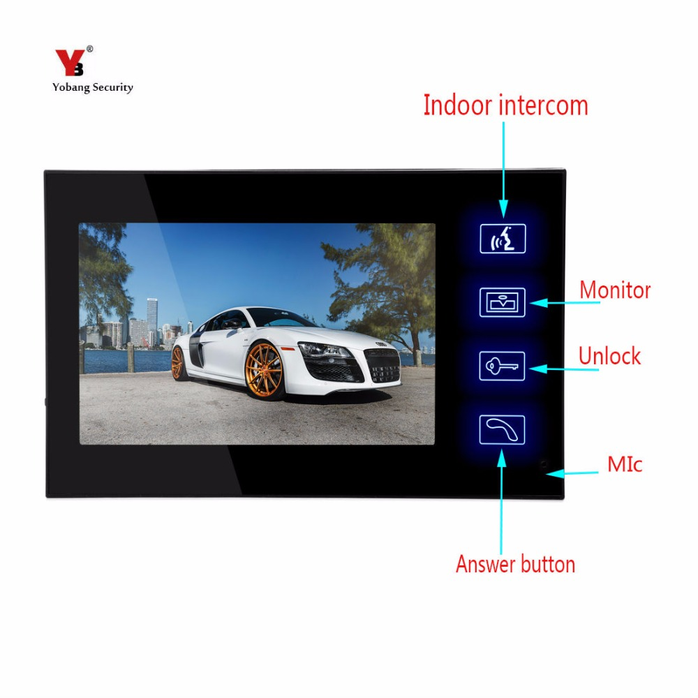 Yobang Security Indoor Monitor For Wired Video Door Phone Doorbell 7 LCD Screen For Video Intercom Not Include Outdoor Unit homefong security 4 tft lcd screen night vision video door phone intercom doorbell kit hd 800tvl 2 indoor unit 2 outdoor unit