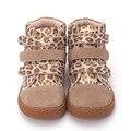 Pekny bosa marca niños leopardo tobillo Botas Niño cuero descalzo Zapatos Niño niñas y niños zapatos para primavera otoño 25 -35