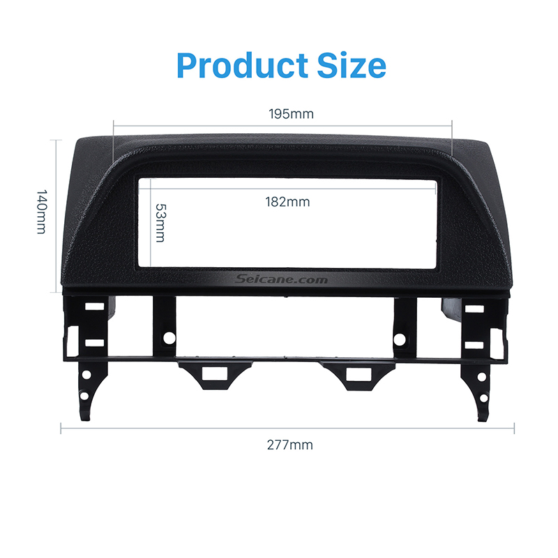 Seicane Black 182*53mm refitting Panel Frame <font><b>Dash</b></font> Installation Trim <font><b>Kit</b></font> 1 DIN Car Audio Stereo Fascia for <font><b>Mazda</b></font> <font><b>6</b></font> Atenza image