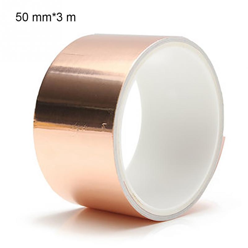 3m*50mm Guitar Copper Foil Tape EMI Shielding Barrier Conductive Copper Foil Tape Electric Guitar Accessory