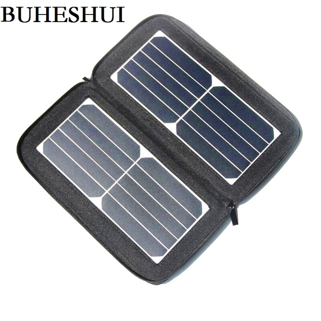 cheap for discount c3f07 5fbfa US $31.16 18% OFF|BUHESHUI 12W 5V Folding Solar Panel Charger Solar Panel  for Phone Universal Travel Dual Solar USB Charger Waterproof NEW -in Solar  ...