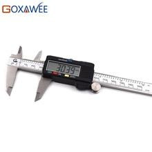 Big discount GOXAWEE Hardened Stainless Steel 0-150 mm Digital Caliper Electronic Digital Vernier Caliper Gauge Measuring Instrument Tools