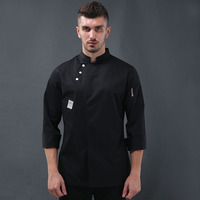 2018 winter arrival women men kitchen restaurant cook workwear chef uniform white shirt double breasted chef jacket
