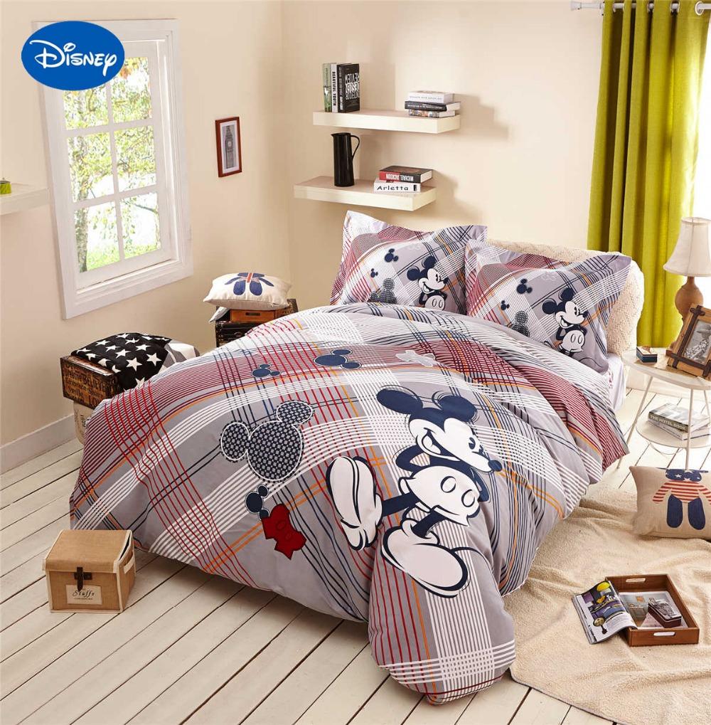 Mickey Maus Bettdecken Bettwäsche Textil Kinder Wohnkultur Twin Königin Cartoon Disney Schleif Baumwolle Warme Weiche Winter Gestreiften Mickey Mouse Comforters Mickey Comfortersbedding Mickey Mouse Aliexpress
