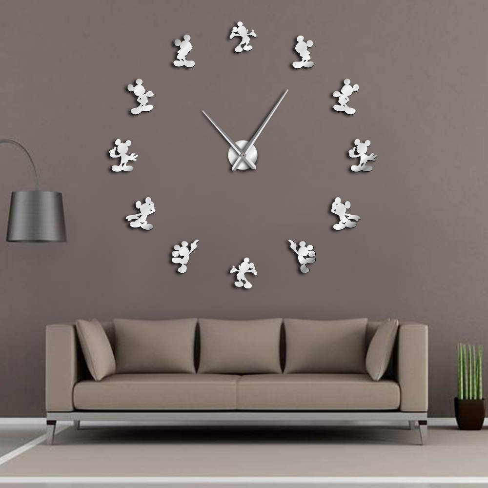 Wall-Clock Watch Mouse Classic Kitchen Anime Modern-Design Kids Housewarming 3d Cartoon title=