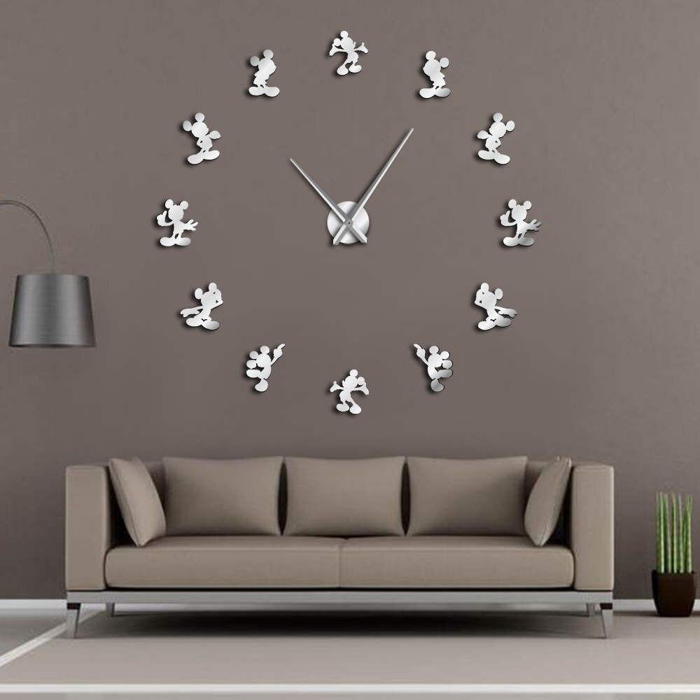 Classic Cartoon Modern Design Anime Themed Mouse Kitchen DIY Wall Clock 3d Saat Reloj De Pared Watch Housewarming Gift Kids Room