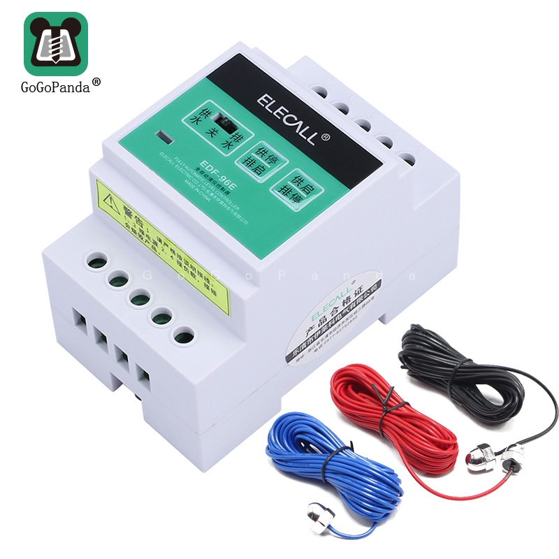 Free Shipping DF96E Auto Water  Liquid Level Controller AC220V 5A Din Rail Mount Float Switch With 3 Probes