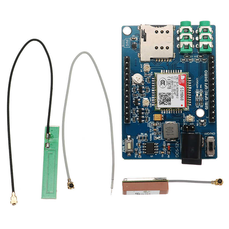 SIM868 GSM GPRS GPS 3 In 1 Module Board With Antenna for Arduino 51 STM32 Support Voice Short Message TTS DTMF