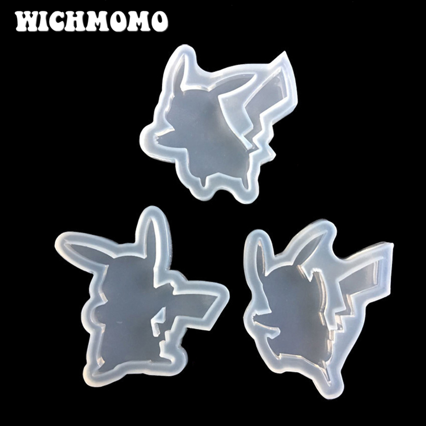 1pcs UV Craft DIY Jewelry Liquid Silicone Mold Cute Cartoon Pikachu Resin Molds For Intersperse Decorate Making Toys Bakeware