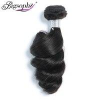 Bigsophy Hair Malaysian Loose Wave Human Hair Wave Bundles 1 Piece Hair Extension 8 28inch Remy Hair Natural color Dye & Bleach