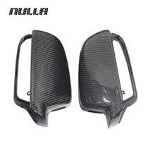 NULLA карбоновое волокно для AUDI A4 B9 2013 A5 боковая крышка заднего вида внешняя отделка зеркало запасные крышки стайлинга автомобиля LHD