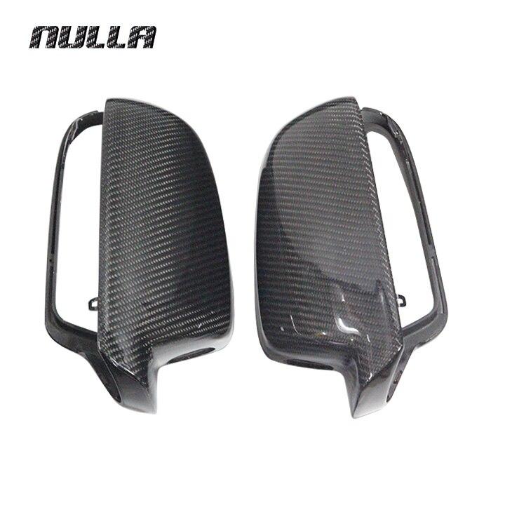 NULLA карбоновое волокно для AUDI A4 B9 2013 2014 2015 A5 боковая крышка заднего вида внешняя отделка зеркало запасные крышки стайлинга автомобиля LHD
