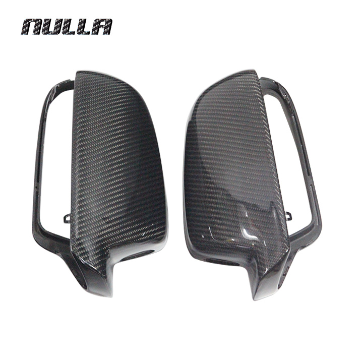 Nulla углерода Волокно для Audi A4 B9 2013 2014 2015 A5 заднего вида боковую крышку внешней отделки зеркало Замена Caps автомобилей стайлинг LHD