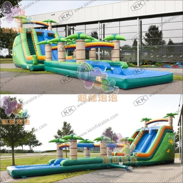 kid outdoor funny big jungle inflatable water slip n slip games in