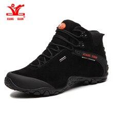 Xiang Guan Hiking Shoes Mens Windproof Sport Trekking Boots Anti-slip Black Mountain Climbing Shoes Women Outdoor Sneakers