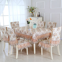 13pcs/set Pastoral Style Rectangular Tablecloth with Chair Covers 130*180 cm Table cloth for Wedding Dining Table Cover nappe