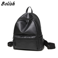 Bolish High Quality PU Leather Women Backpack Fashion Style Girls School Backpack Small Female Bag Bagpack