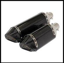 51mm Inlet moto D'échappement silencieux carbone POUR T-MAX Tmax 500 530 2008-2016 z800 z100 ktm200 390 R1 R3 R6 FZ6 Z1000 GSXR600