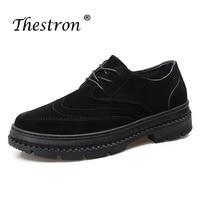 ThestronTop качество Мужская обувь удобные кожаные Для мужчин модные дизайнерские кроссовки Элитный бренд зашнуровать мужской резиновой подошв...