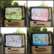 Cortina de dibujos animados para ventana lateral de coche, cortina de sol, cortina de protección UV para niños y niños, cubierta lateral trasera