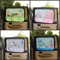 pare soleil voiture Car Side Window Sunshade Cartoon Curtain sun visor UV Protection Curtain For Boys Kids Cars Rear Side Cover