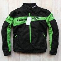 Free Shipping men KAWASAKI jacket summer Racing clothing Moto GP Motorcycle Automobile Driving clothes coat With Protectors