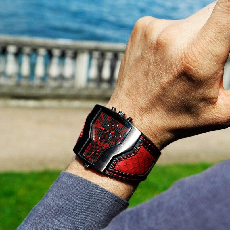 5f9f4ebb406 alta precisão movimento de quartzo com a mais recente Tecnologia de  Ponta.-Pulseira De Couro ocasional Relógio Masculino Esporte Relógio de  Quartzo.