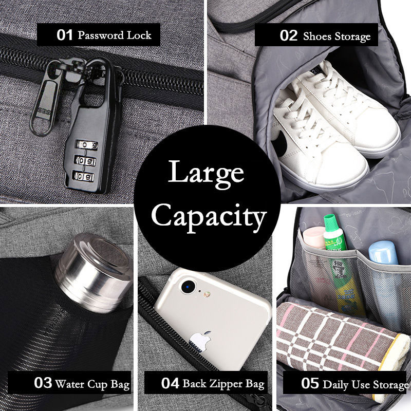Multifunction Men Travel Bags Anti Theft Male Bag Portable Travel Duffel Bags for Man Large Capacity Shoulder Handbag Back Pack 3