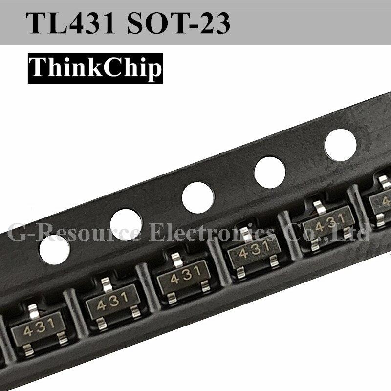 (100 Pcs) TL431 SOT-23 SMD Voltage Regulator IC 0.5% (Marking 431)