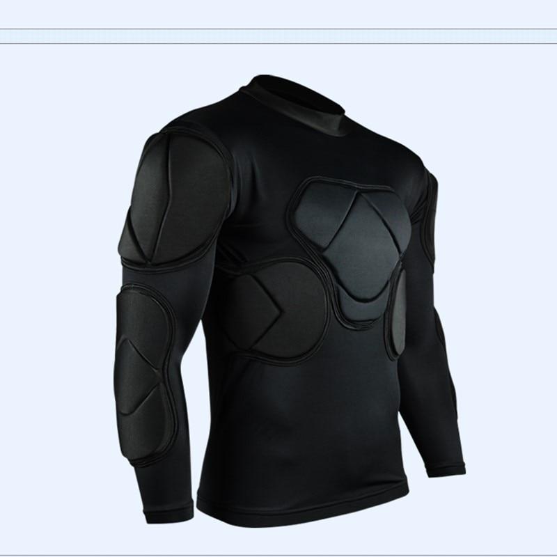 Mænds sport polstret fodbold målmand trøjer fodbold rugby Jersey 2017 svamp målmand sæt ventilere beskyttende skjorte albue